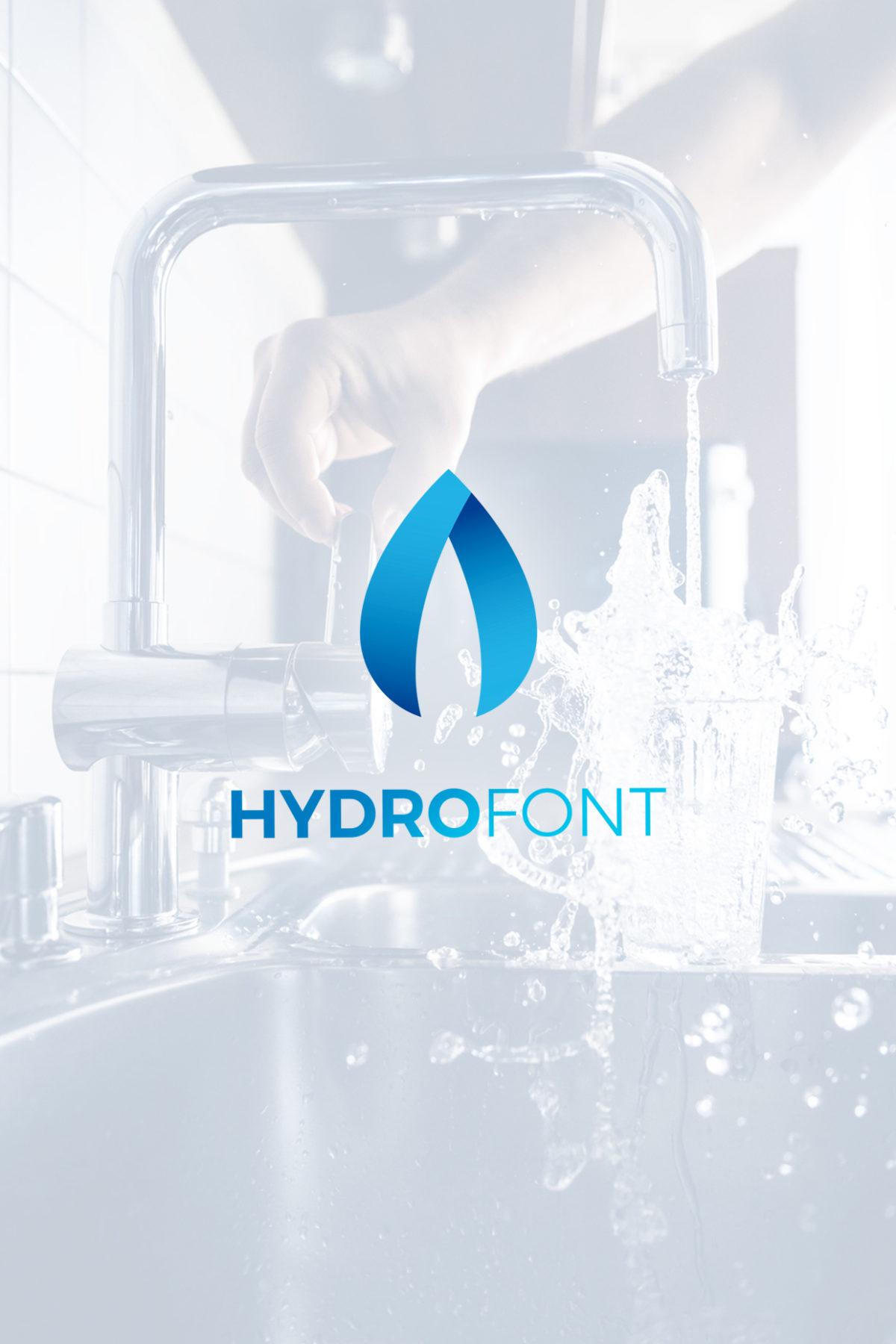 Diseño logo hydrofont