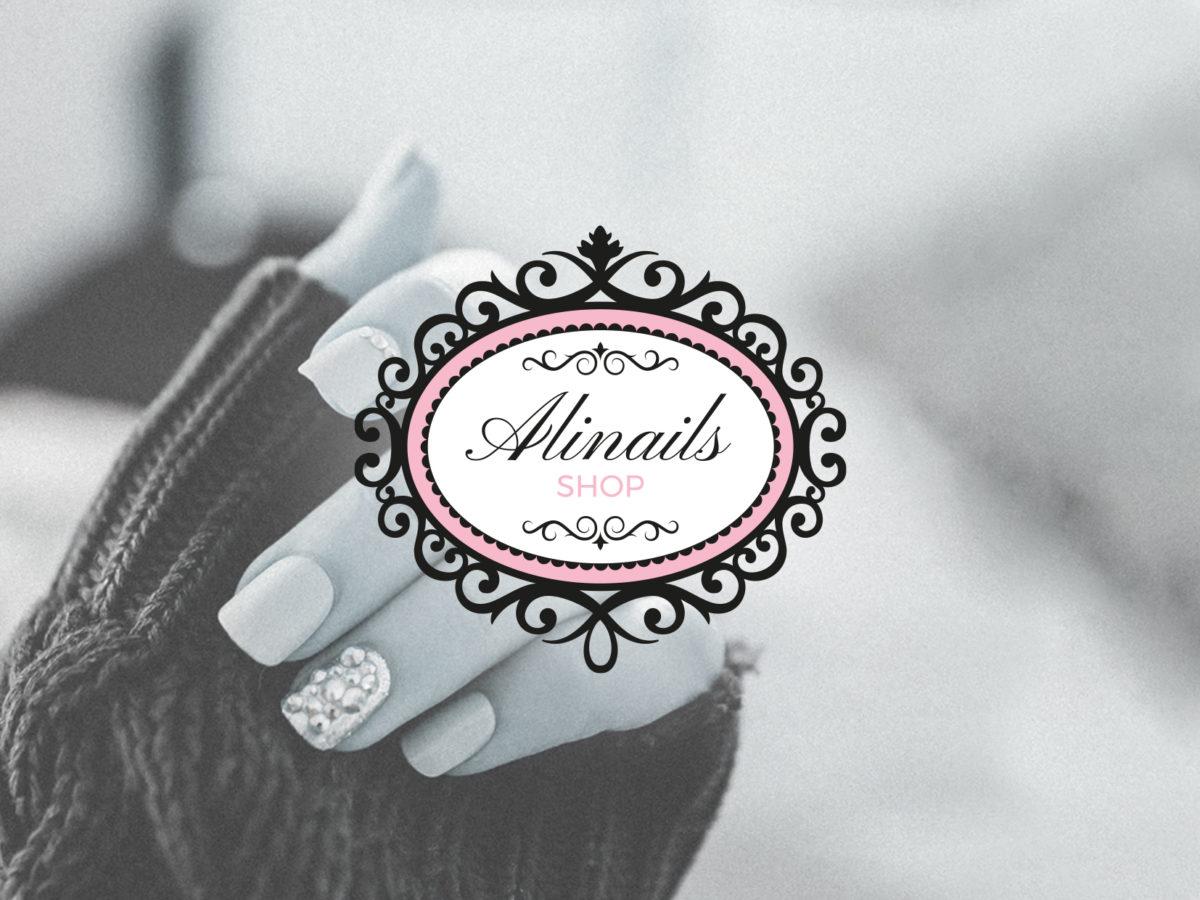 Diseño logotipo Alinails